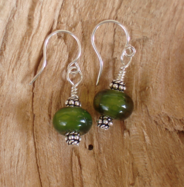 Pond bead earrings