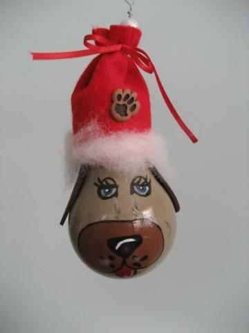 puppy dog Recycled  Lightbulb Ornament