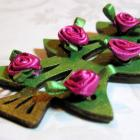 Shabby Chic Rose Tree Decoration