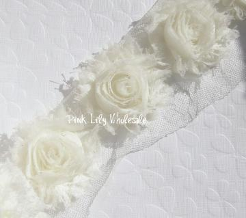 Six White Shabby Chic Flowers