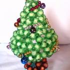 Beaded Christmas tree Led light base by Orchid's Orchard