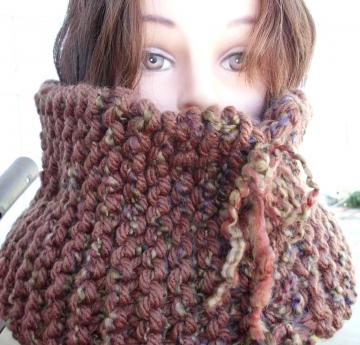Winter Wear - Warm Brown Cowl Neckwarmer