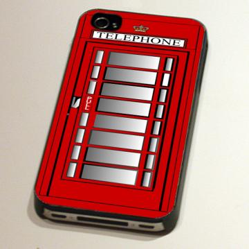 iPhone Case (4 and 4s) - British Vintage Telephone Box