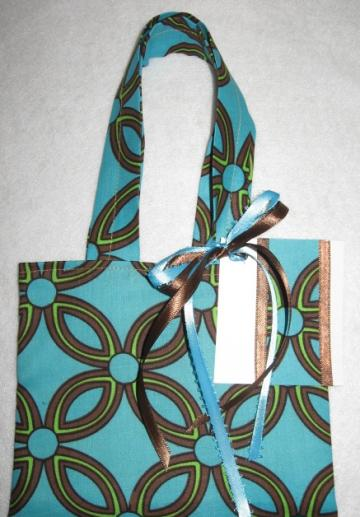 Missy / Reusable / Fabric Gift Tote / Ex Small / With Gift Tag