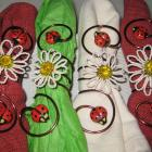 Daisies and Ladybugs - Napkin Rings