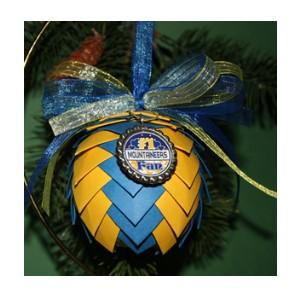 West Virginia Mountaineers Pine Cone Ornaments
