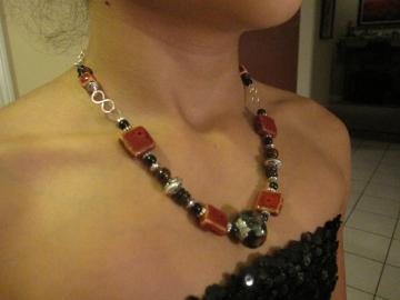 Beautiful Red and Black Necklace