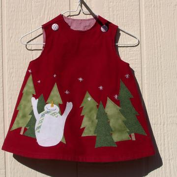 Let It Snow Dress, Size 6 Months