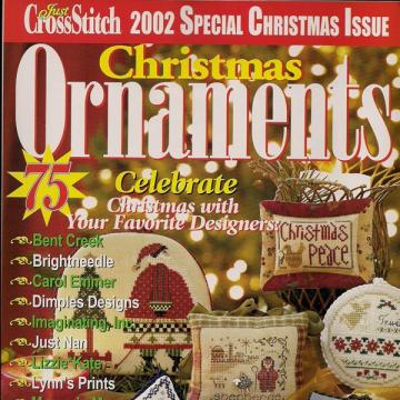 Just CrossStitch 2002 Christmas Ornament Magazine