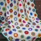 Crocheted Floral Fantasy Throw - Made to Order