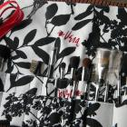 20 pocket Makeup Brush Holder-Black and White Trees