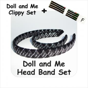 Doll and Me Head Band and Clippy Set F