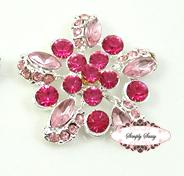 RD78 PINK GoRgEoUs Rhinestone Embellishment Buttons - Add to flowers, invitations, frames, accessories ~ WHERE EVER!