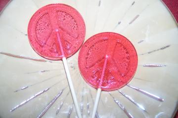 10 Peace SIgn Lollipop Sucker Party Favor