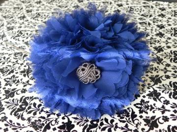 BIG Fabric Flower - Metal Headband - Girl/Teen/Bride/Bridesmaid/Adult - Ready to Ship!