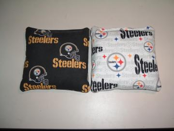 PITTSBURGH STEELERS CORNHOLE / CORN HOLE BAGS