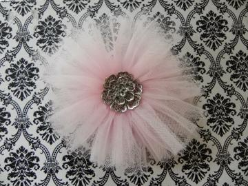 Ballerina Tulle Tutu Flower - Alligator Clip - Ready to Ship! - Adult/Girl/Teen