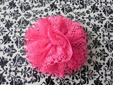 Lace Fabric Flower - Alligator Clip - Ready to Ship! - Adult/Teen/Girl