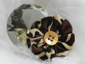 Animal Print Fabric Flower - Ready to Ship