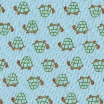 TURTLES, Cotton Baby Rib Knit Fabric, by the Fat Quarter