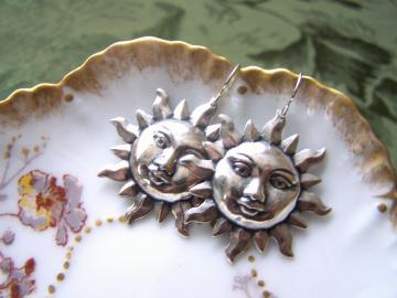 Soulful Silver Sun Earrings