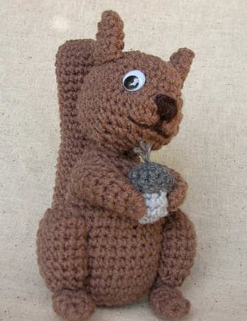 Crocheted Squirrel