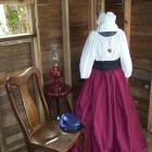 Womens Prairie Pioneer Civil War Colonial Dress bonnet skirt blouse
