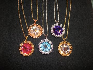Swarovski Japanese  Flower Pendants