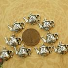 Tea pot charms 9 pieces