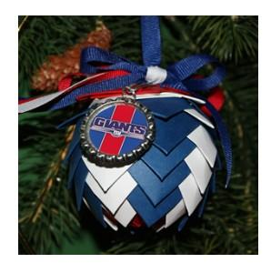 New York Giants Pine Cone Ornaments