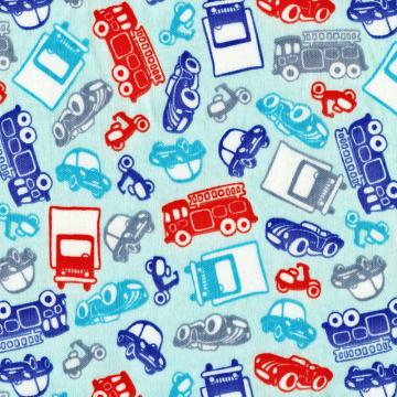 BEEP BEEP Cotton Interlock Knit Fabric, by the Fat Quarter