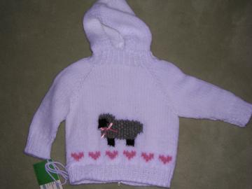 Lamb Hoodie with back zipper