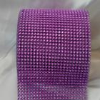 Purple 24 lines faux jewel ribbon 4-1/2 inch wide