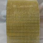 Gold 24 lines faux jewel ribbon 4-1/2 inch wide