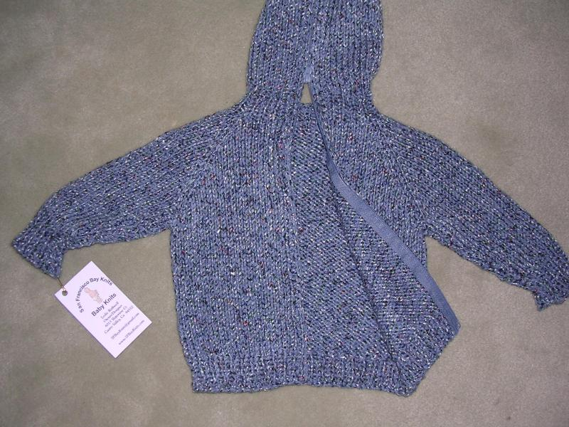 Knitting Pattern For Zip Up Back Baby Sweater : Hooded Baby Sweater Back Zipper Pattern - Bronze Cardigan