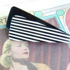 Black And White Plastic Vintage Mod Barrette $7