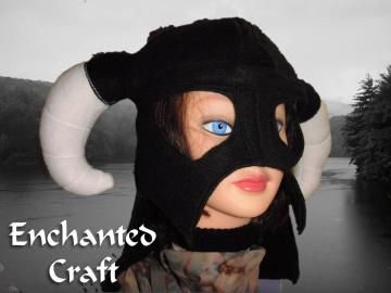 Fleece Skyrim inspired Dragon slayer hat