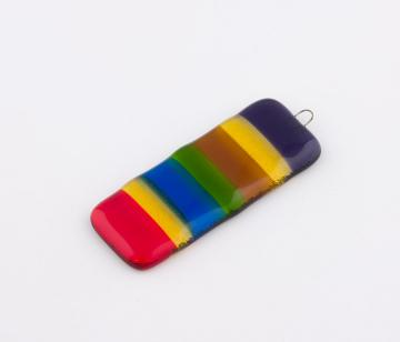 Fused Glass Rainbow Suncatcher