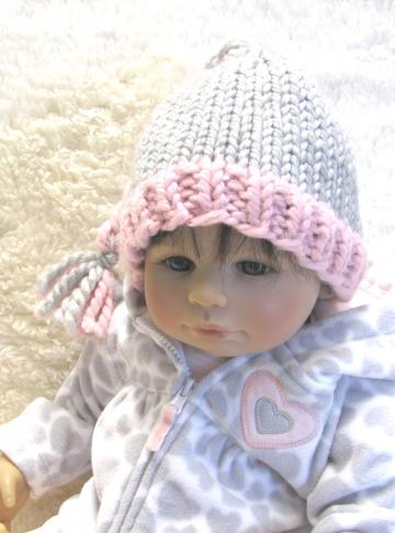 Knitting Pattern - BRAIDED Baby Hat - pdf, Permission to sell hats - 3 Sizes