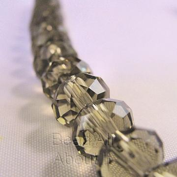 Chinese Crystals 8x5mm Faceted Rondelles Black Diamond Beads