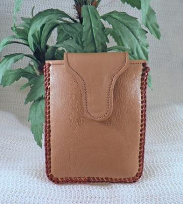 All leather iPhone/multi-purpose fancy case fits on a purse strap C4