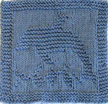Knitting Pattern - DOLPHIN - PDF