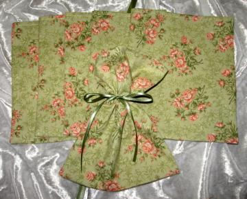 Olivia/ Set of 6  / Ribbon Tie Gift Bags / Great for Soaps / Candles / Jewelry / Lotions