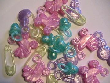25 BABY CHARMS- Shower Favors- Table Sprinkles 