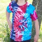 Tie Dyed T-shirt, hand dyed - Youth Medium 10-12 - Ripples