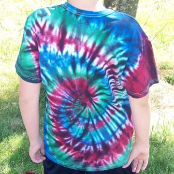 Hand Dyed Tie Dye T-shirt, Mens/Unisex MEDIUM - Dragon