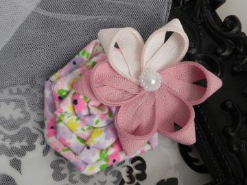 Pink Zipper/Rose Flowers Clip