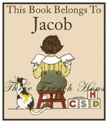 The Book Corner Personalized Book Plates - Set of 24 For Your Library