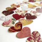 Packet of 50 Vintage Heart Punches in Reds