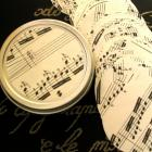 Sheet Music 2 Inch Circle Punches - Vintage 50 Piece Packet